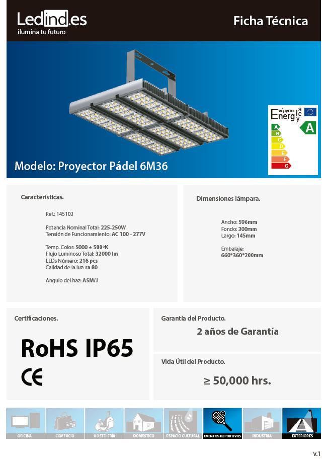 Proyector Pádel 6M36