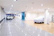 iluminación led concesionario Hyundai Barcelona