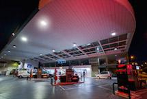 iluminación led área de servicio