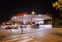 iluminación led gasolinera
