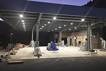iluminación led estación de servicio