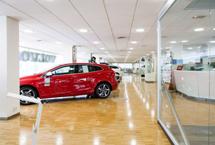 iluminación led concesionarios Volvo Barcelona