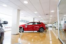 iluminación led concesionarios Hyundai Barcelona
