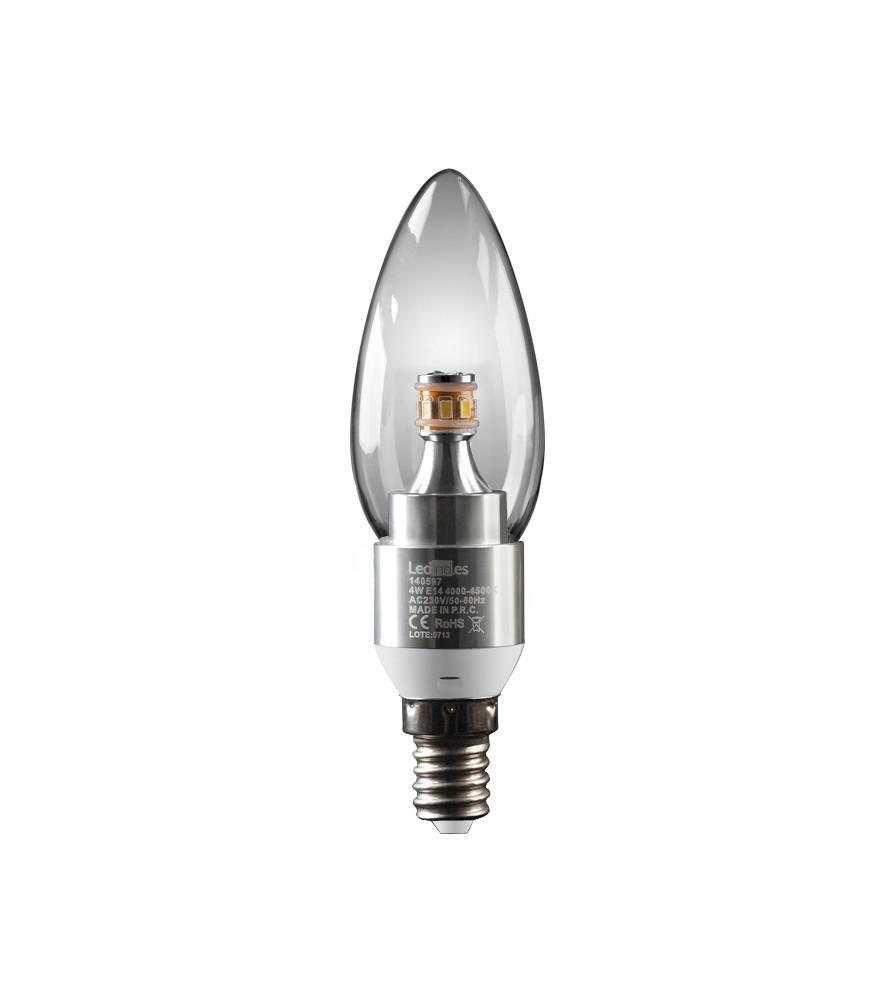Bombilla LED Vela E14 4W BN