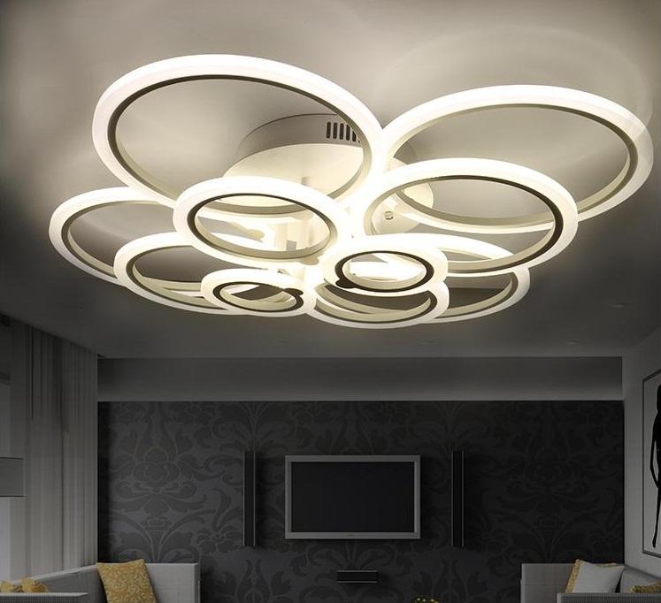 iluminación en cada estancia de una casa